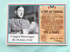 """V06-BA-74--generale De Gaulle Lancant L'appel """"a Tous Les Francais- 18 Juin 1940--sur LaBBC- Londres- - London"""