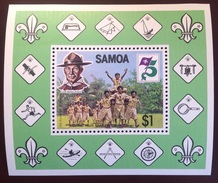 Samoa 1982 Scouts Minisheet MNH - Samoa