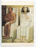 Art Egypte : Prince Rahetep Et Son épouse Nefert Vè Dynastie - Cp Vierge (Egyptian Le Caire) - Antiquité
