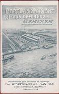 Hemiksem Hemixem Portland Ciment Cement J. Van Den Heuvel Reclame ZELDZAAM (Offerte Op Achterzijde !) (kreukje) 1919 - Hemiksem