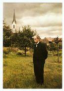 CPM DOCTEUR ALBERT SCHWEITZER A GUNSBACH 1957 ALSACE PRIX NOBEL DE LA PAIX - PHOTO Ph. FERBER - NON CIRCULÉE - 2 Scans - Prix Nobel