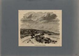 14 - VILLERVILLE - Gravure Issue D'une Revue De 1877 Et Collée Sur Feuille A4 - Alte Papiere