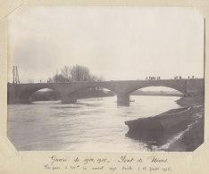 PONT DE MOURS, 15 Février 1915. Durant Destruction Ou Reconstruction ?  Quadruplement. Photo Originale - Trains