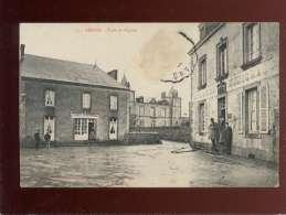 53 Gesnes Place De L'église édit. Pavy Legeard N) 73 Animée Café Maréchal , Café Beauchene épicerie - France