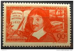 FRANCE 1937  - DESCARTES  N° 341 - 1  Timbre NEUF** Y&T 4,30€ - Francia