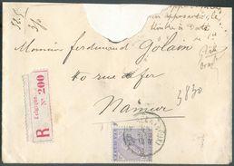 N°41 - 50 Centimes Violet Obl. Sc SCHAERBEEK (BRUX.) Sur Enveloppe Du 12 Sept. 1885 En Triple Port (32,5 Gr.) Vers Namur - 1883 Leopold II