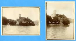 Haute-Savoie Lac Annecy - DUINGT Vers 1900, Le Château - 2 Photos Originales - Voir Scans - Places