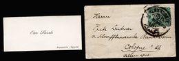 A5023) Egypt Ägypten Kleiner Damenbrief Mit Inhalt Von Alexandrien 1893 - Ägypten