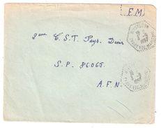 Guerre Lettre FM Agence Postale Rurale BOISREDON Charente Maritime 4.9.1957 > 2 E C S T ,SP 86065 A F N  Algérie - Storia Postale