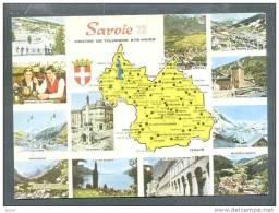 73 LA SAVOIE ... Carte Descriptive  : Moutiers ,courchevel Etc.. (cpsm) - France