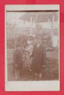 220883 / Real Photo VILLAGE Golyam Dervent / ELHOVO REGION / 1934 - LITTLE GIRL BIG DOLL GARDEN WOMAN Bulgaria Bulgarie - Anonymous Persons