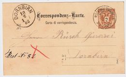 """Liechtenstein, 1888, GA """" SCHAAN """" , LBK € 120.-   , #8762 - ...-1912 Vorphilatelie"""