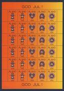 Aland 1995 Sheet God Jul - Christmas Seals / Julmärken / Joulumerkit / Cinderella / Weihnachtssiegel - Weihnachten