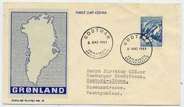 GREENLAND 1957 Greenlandic Sagas I On FDC.  Michel 39 - FDC