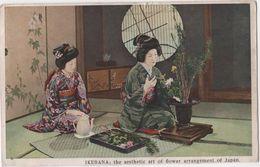 JAPAN  Japon Ikebana Art Of Flower Arrangement Métier D'art Composition Florale Fleuriste - Japón