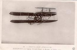 L'Aviateur Lefebvre Sur Biplan Wright-Ariel, à Reims 1909    -  CPA - Aviatori