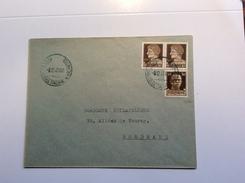 France Guerre 1939-45 Base Navale Italienne De Bordeaux 1943 Lettre (Italia Emissioni Locali Base Atlantica Cover Brief - Kriegsausgaben
