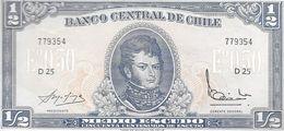 BILLETE BANKNOTE BANCO CENTRA DE CHILE CHILI CILE AL FRENTE BERNARDO DE O'HIGGINS AL REVERSO LLEGADA DE DIEGO DE ALMAGRO - Chile