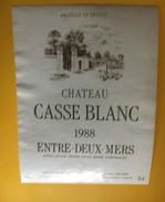 6152 - Château Casse Blanc 1988 Entre-deux-Mers - Bordeaux