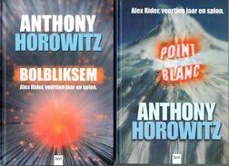 Anthony Horowitz 2 Boeken Bolbliksem En Point Blanc - Books, Magazines, Comics