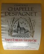6160 - Château Chapelle Despagnet 1989 Saint-Emilion - Bordeaux