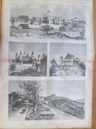 Document 1886 L A France à Madagascar   Colonie Francaise  Tananarive   Hova Palais   Ranavalo-Manjaka   Camp - Vieux Papiers