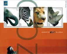 MDA-BK1-138 MDN MINT ¤ PORTUGAL 2001 4w In Serie  ¤ MAMMALS - ANIMALS OF THE WORLD - ANMALS DO ZOO DE LISBOA - Wild