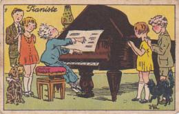 Chromo/tickets-prime - Produits Le Niger, Macon - Pianiste - Chromos