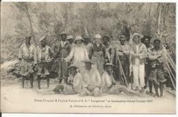 """SEYCHELLES....Pierre Coupard Et Captain Currie Of S.S."""" Longwood """" At Assomption - Island..October 1907......très Belle. - Seychellen"""