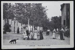 CPA AZILLE PLACE SAINT-ANDRE - Autres Communes
