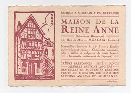 Maison De La Reine Anne  Morlaix Finistère  Gravure - Dépliants Touristiques