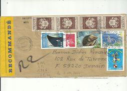 1LR  Avec 9 Timbres Divers  Affranchie à ( 6.00afr + 3.00fr + 1.96euros.) ..le 03/09/2004..............à Voir - 1961-....