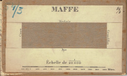 Ancienne Carte D'état Major Entoilée 54/3 Havelange Maffe Miecret Jeneffe Porcheresse Barvaux Condroz  1/20000 - Havelange