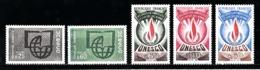 France Service 1966 à 1971 - Timbres Yvert & Tellier N° 36 - 38 - 39 - 40 Et 41 Avec Oblitérations Rondes - Oblitérés