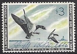 US  1963 Sc#RW30 $3 Brant Ducks Used   2016 Scott Value $12   RenaM - Canards