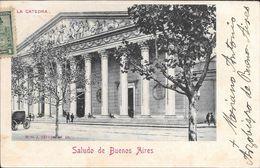 MARIANO ANTONIO ESPINOZA ARZOBISPO DE BUENOS AIRES (1893-1923) AUTOGRAFO SOBRE POSTAL DE LA CATEDRAL CIRCULADO AÑO 1903 - Autografi