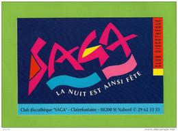 """CPM.   SAINT-NABORD (88).   Club Discothèque """"SAGA"""" - Saint Nabord"""