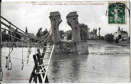 ANDREZIEUX-BOUTHEON  42 LOIRE 352 'INONDATION  DU 17 OCTOBRE 1907 LES DEBRITS DU PONT D'ANDREZIEUX EDIT. NVELLES GALERIE - Andrézieux-Bouthéon