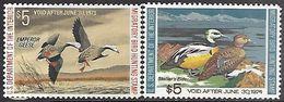 US  1972-3  Sc#RW39-40  $5 Ducks MLH*   2016 Scott Value $50 - Ducks