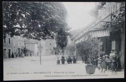 CPA BOURDEAUX PLACE DE LA LEVE - Autres Communes