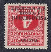 Yugoslavia State SHS Bosnia 1918 Porto, Error - Reverse Overprint, MNH (**) Michel 2 - Imperforates, Proofs & Errors