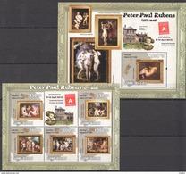 J031 2010 GUINE-BISSAU ART PETER PAUL RUBENS 1BL+1KB MNH - Rubens