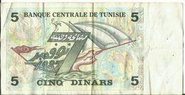 5 DINARS TUNISIE 1987 - Tunisia