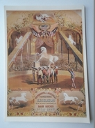 D156081 Horse Pferd Cheval -Trained Horse Excelsior -  American Circus Poster -1890- Shelburne Museum - Vermont  1988 - Chevaux
