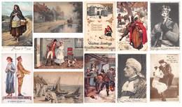 Lot De 32 Cartes : Angleterre - Fantaisie Scènes Et Types Illustration - England Fantasy Scenes & Types - Tuck - Fantaisies