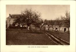 27 - SAINTE-BARBE - Près De GAILLON - Cour De Ferme Normande - Planche Sépia - Photo Demangeon 1935 - Non Classés