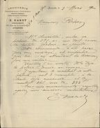 50 - AVRANCHES - Lettre à En-tête - Droguerie - Pharmacie HARDY - 1800 – 1899