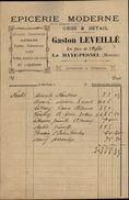 50 - LA HAYE-PESNEL - Facture - Epicerie Moderne Gaston Leveillé - France