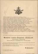 50 - LA HAYE-PESNEL - Faire-part De Décès - Mr Legallais 1899 - Vieux Papiers