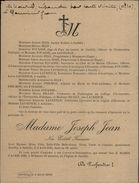 50 - SARTILLY - Faire-part De Décès - MME Joseph Jean Née Edith Fouasse - 1926 - Alte Papiere